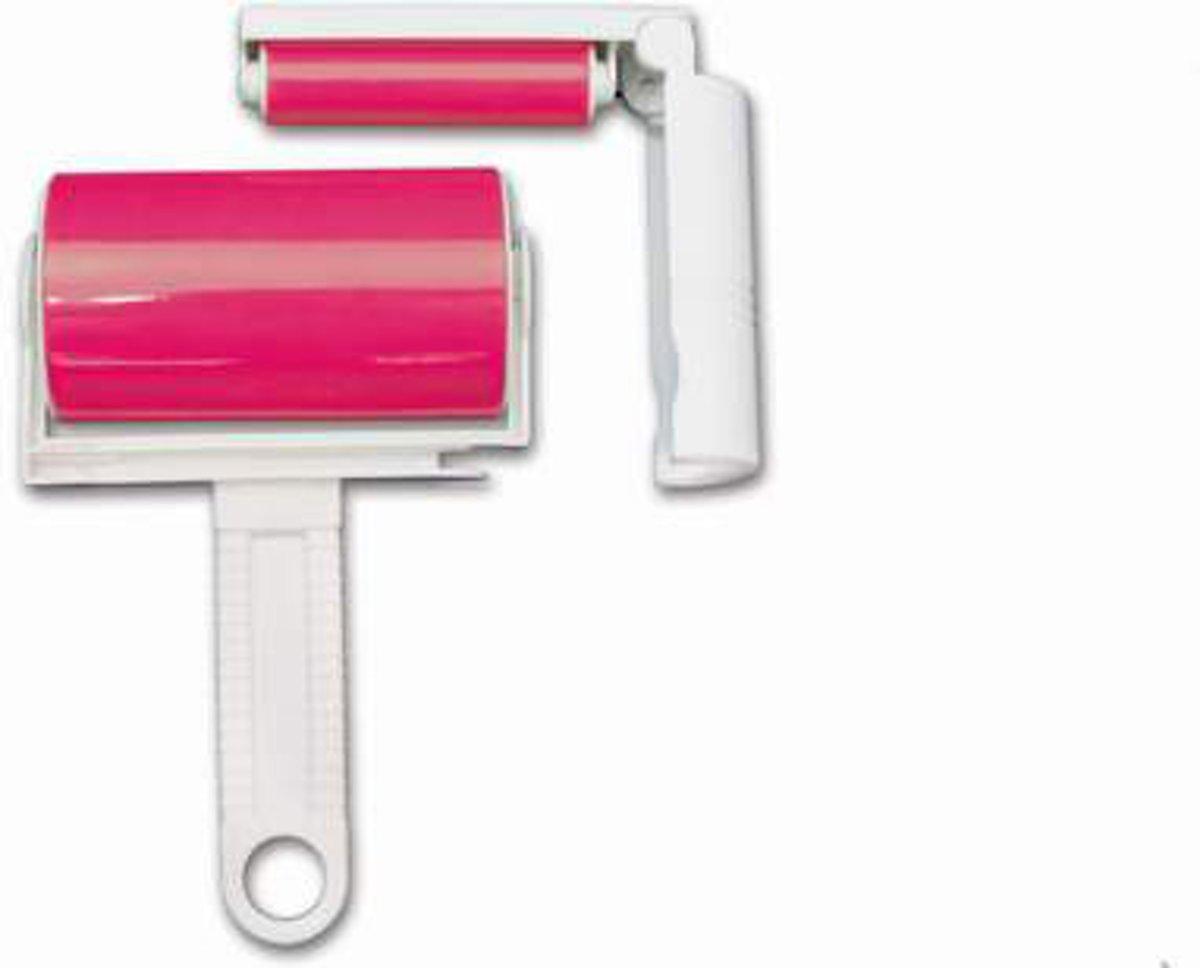 Pluisverwijderaar / pluizenroller / kledingroller / pluizenborstel - 2 stuks - roze kopen