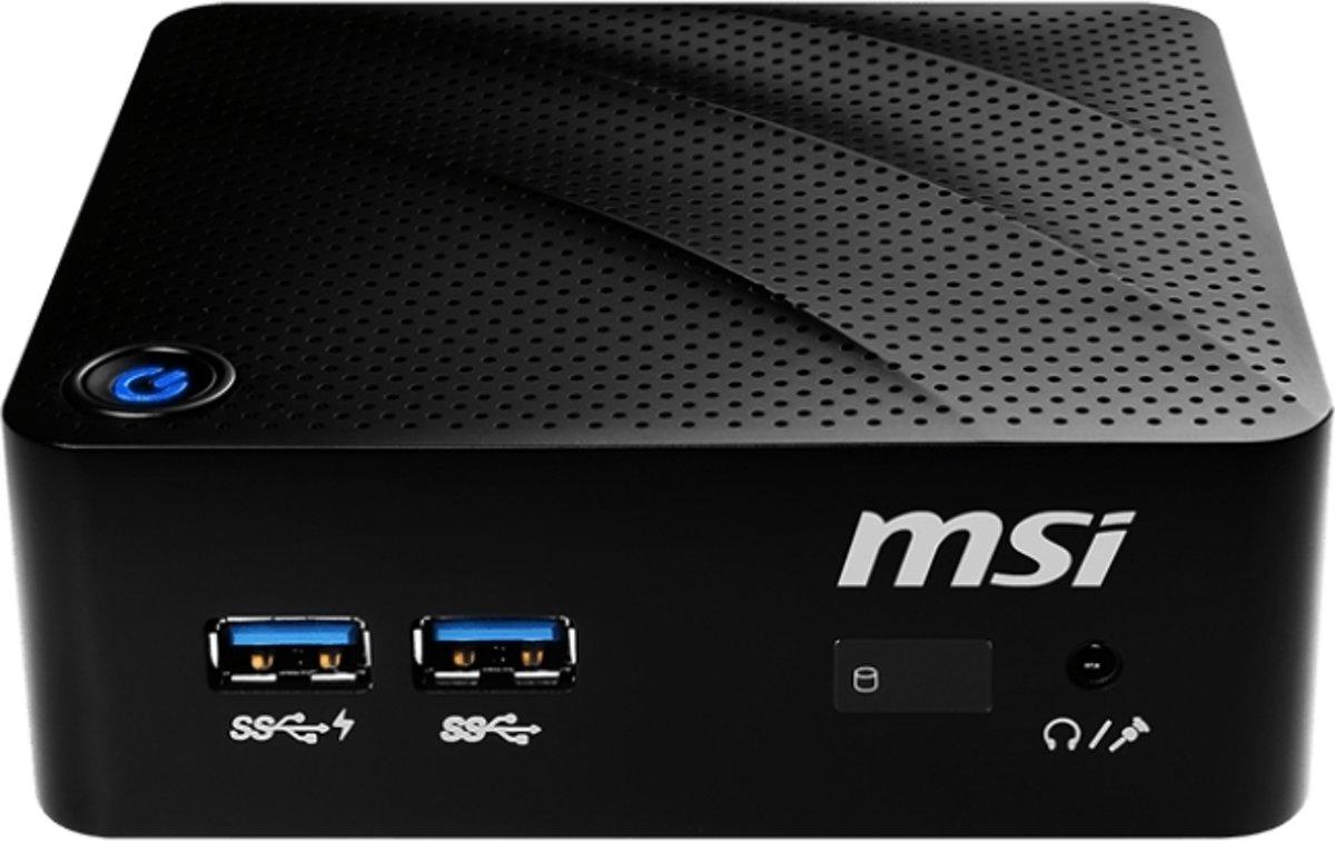 MSI Cubi N 8GL-001BEU BGA 1090 1,10 GHz N4000 0,45 L maat pc Zwart kopen