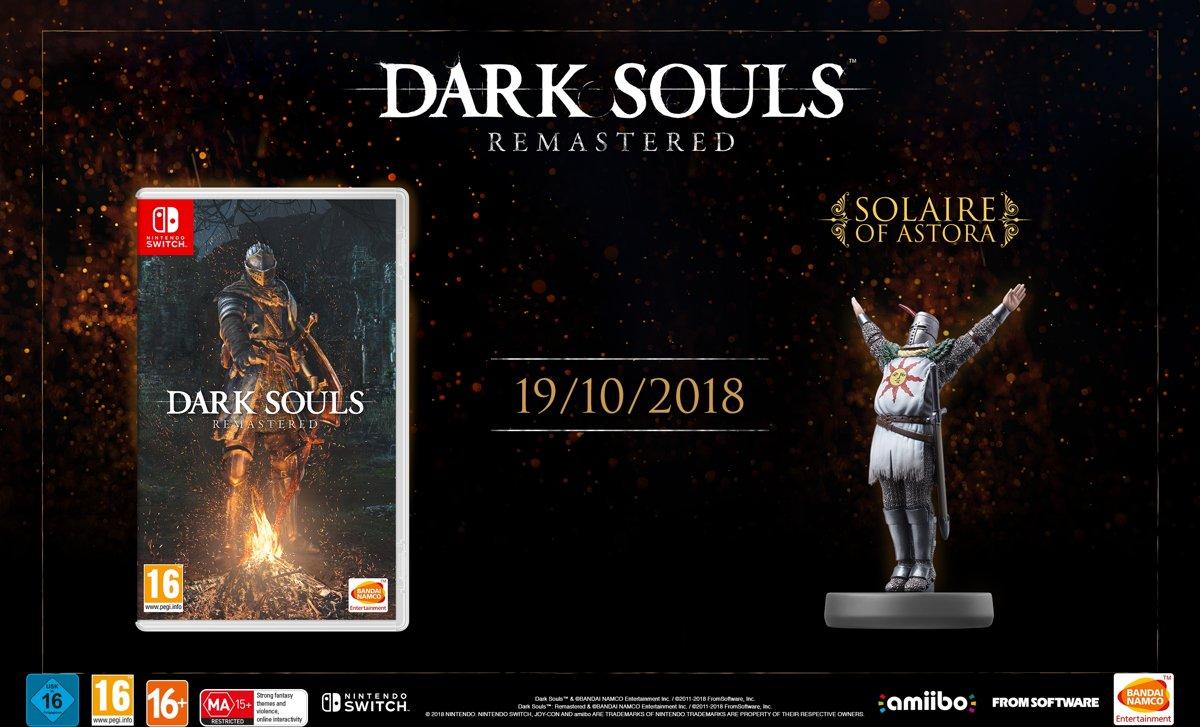Amiibo - Dark Souls: Remasterd - Solaire of Astora Switch
