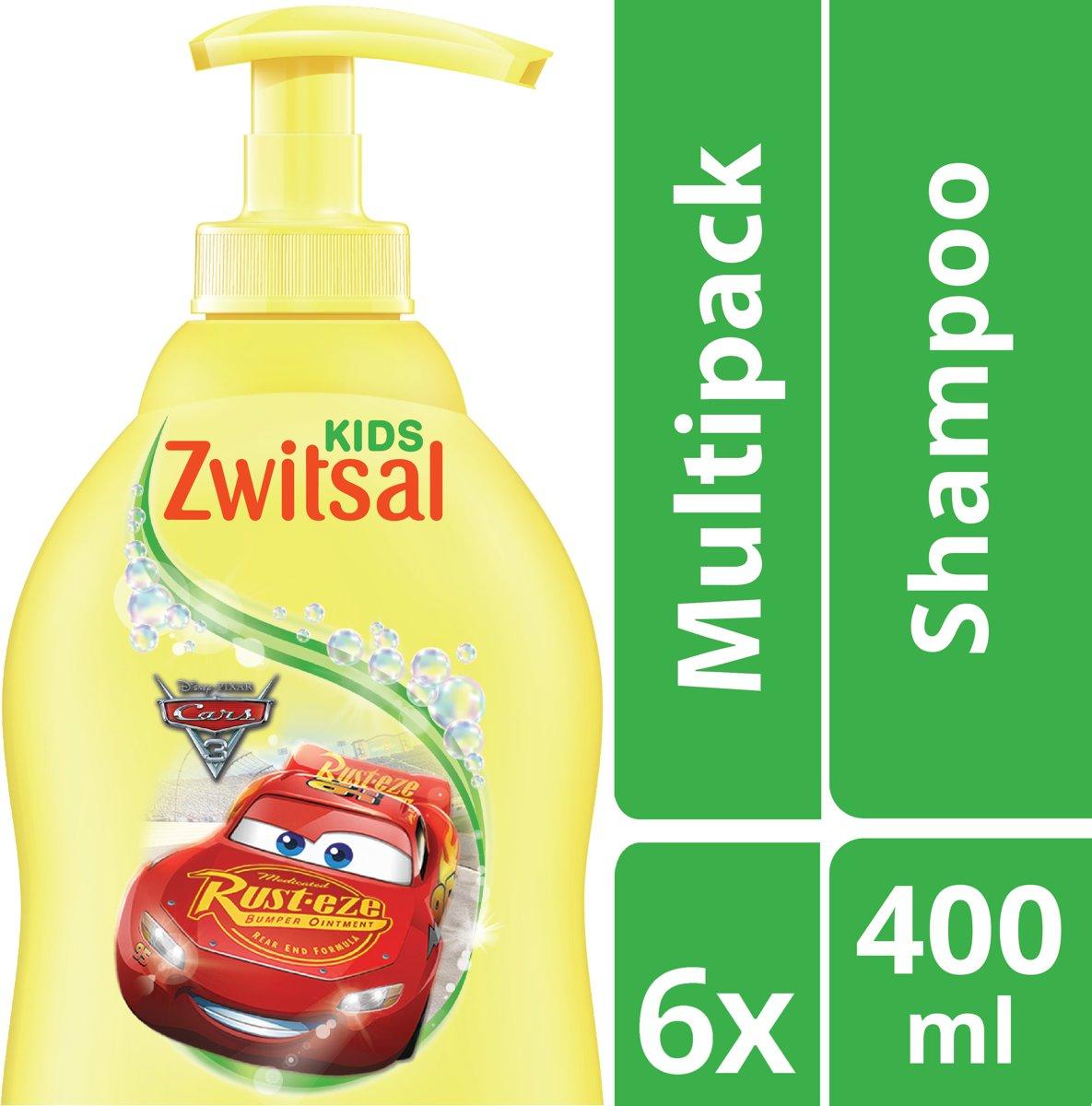Zwitsal Cars Babyshampoo Zeepvrij - Kids - 6 x 400 ml kopen