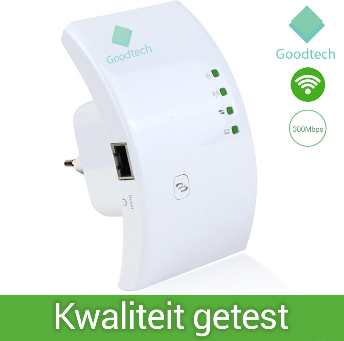 Wifi Versterker Draadloos - Wifi Versterker Stopcontact -  Wifi Versterker Repeater - Draadloze Versterker - Wit + Gratis Internetkabel kopen