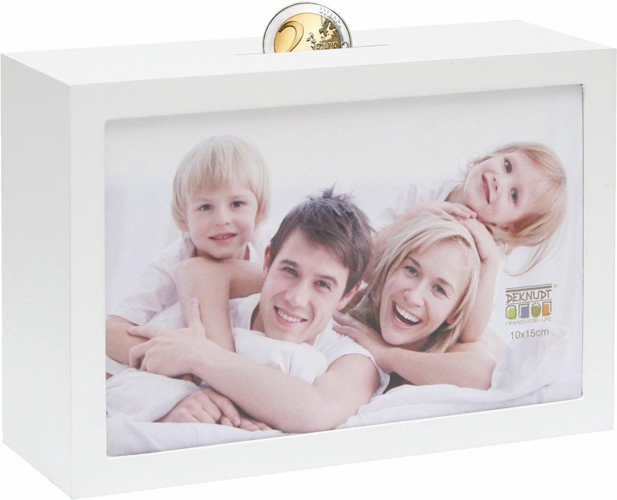 bol.com | Deknudt Frames Spaarpot wit voor 1 foto