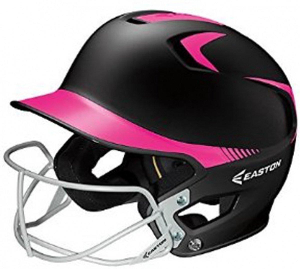 Easton Z5 Softbal Slaghelm 2-Tone + Faceguard Zwart/Roze Junior