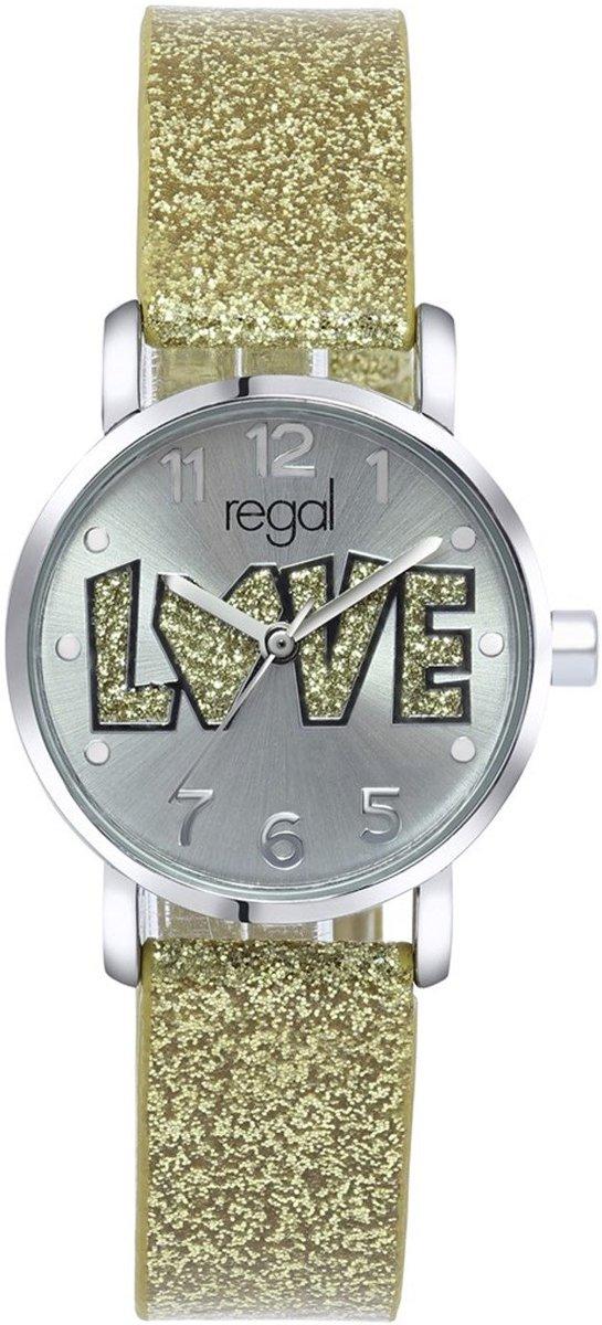 Regal - Regal glitter horloge met een goudkleurige band kopen