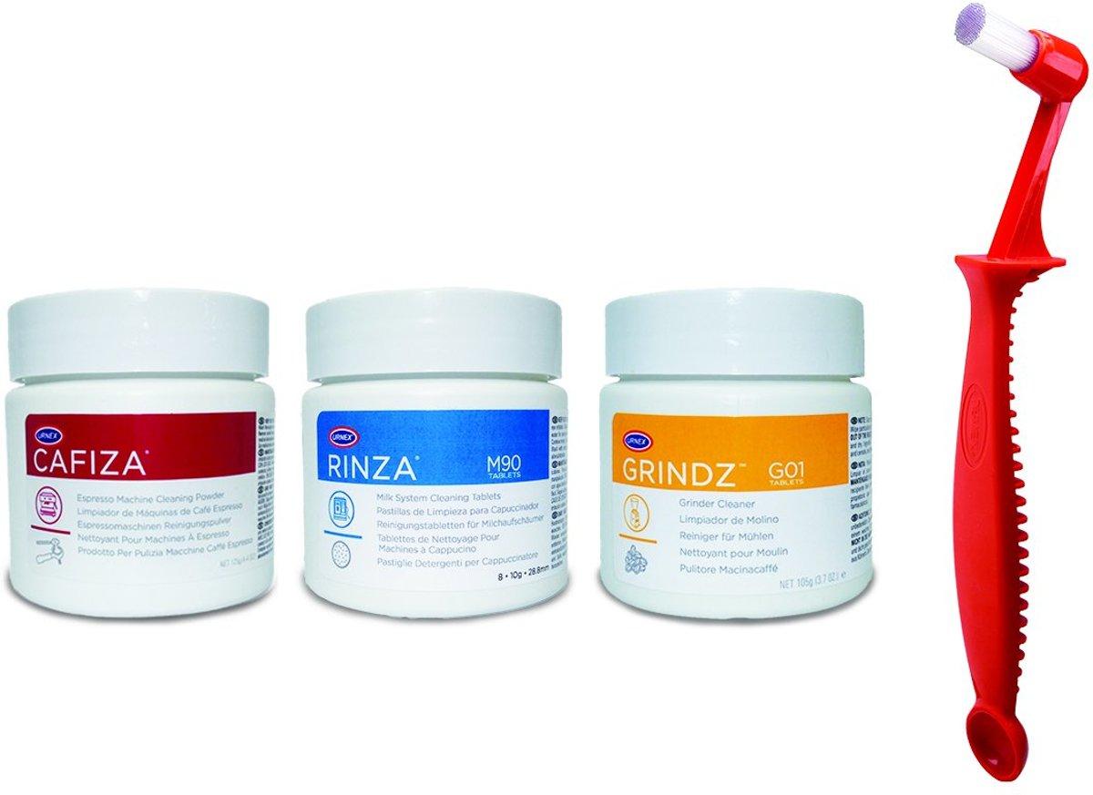 Espresso Starter Set met Cafiza®, Rinza®, Grindz® en Scoopz® kopen