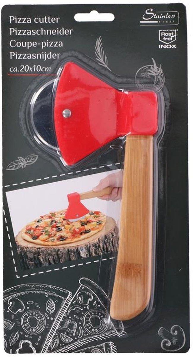 Pizzaroller hakbijl - pizza mes - roller - snijder - 20x10cm kopen