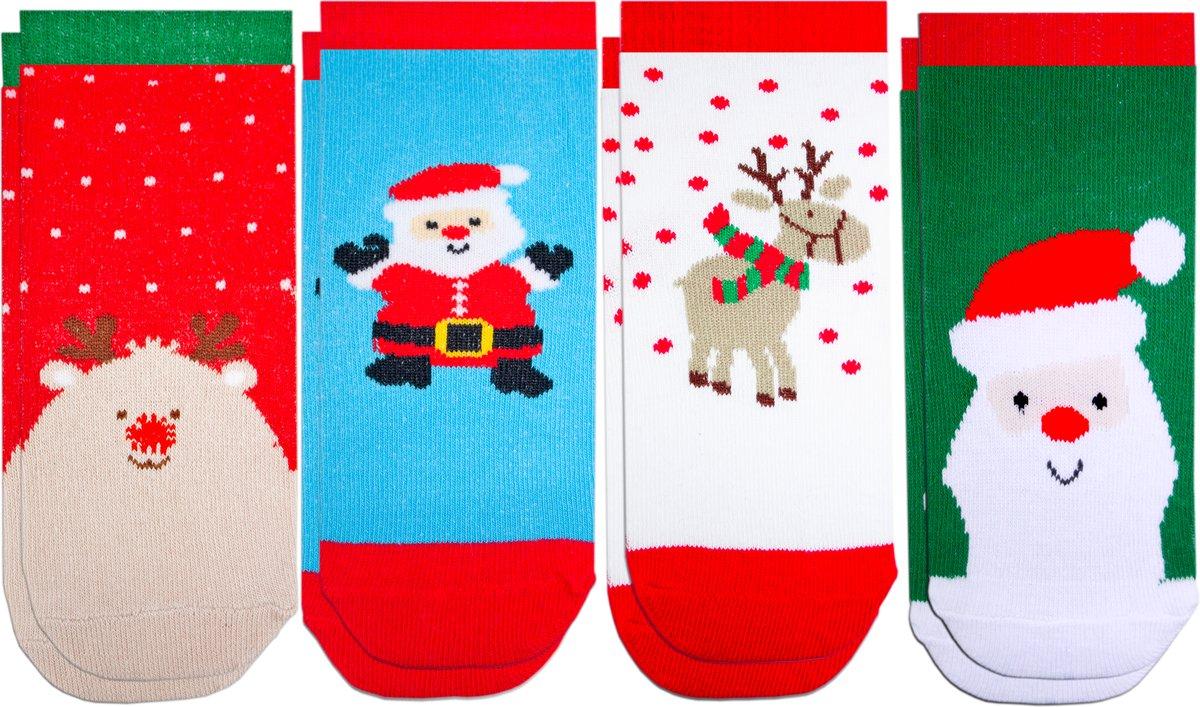 Kerst kinder sokken - set van 4 paar kinder kerstsokken - voor kinderen van 1 tot 6 jaar kopen
