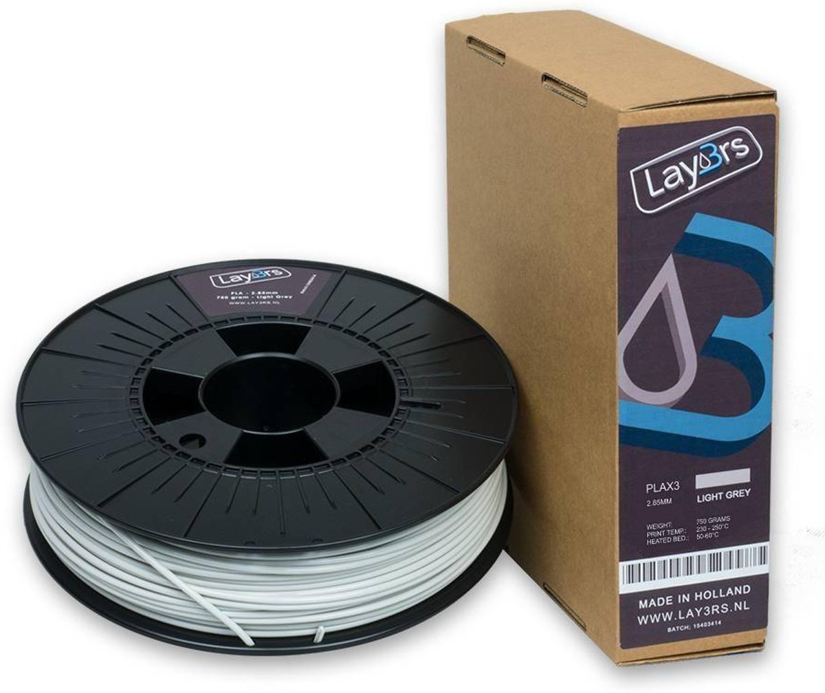 Lay3rs PLA X3 Light Grey - 1.75 mm