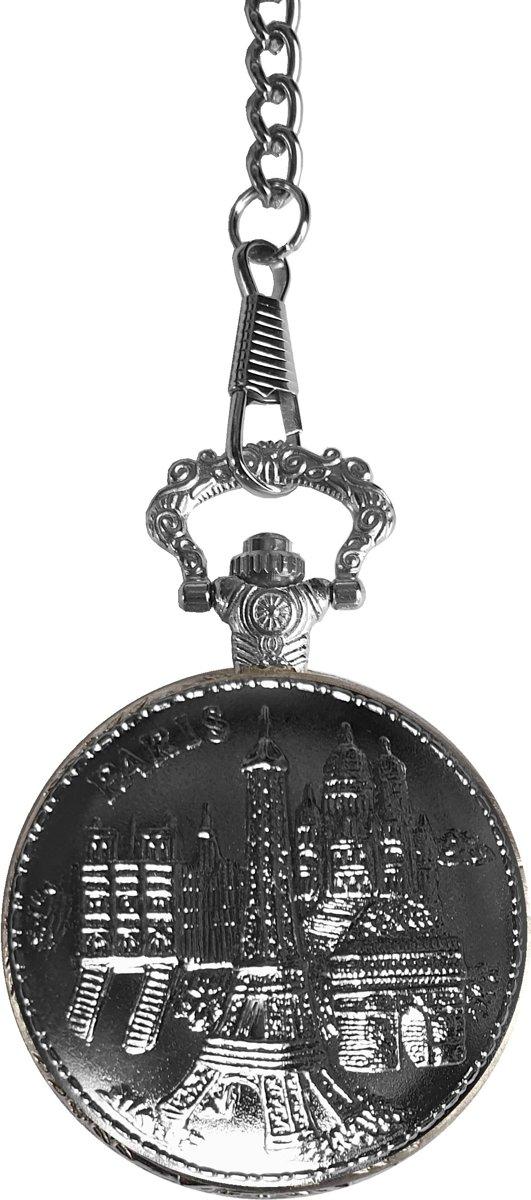 Fako Bijoux® - Zakhorloge - XXL - Moskou - Ø 47mm - Zilverkleurig kopen