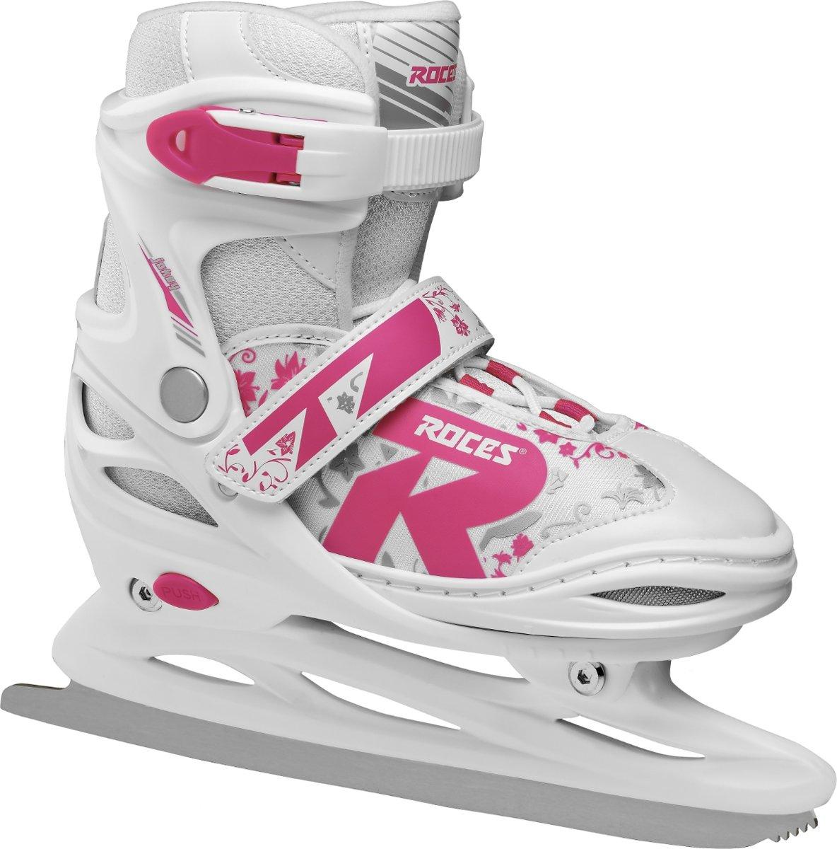 ROCES Kunstschaatsen verstelbaar JOKEY ICE 2.0 GIRL Wit/Roze 26-29