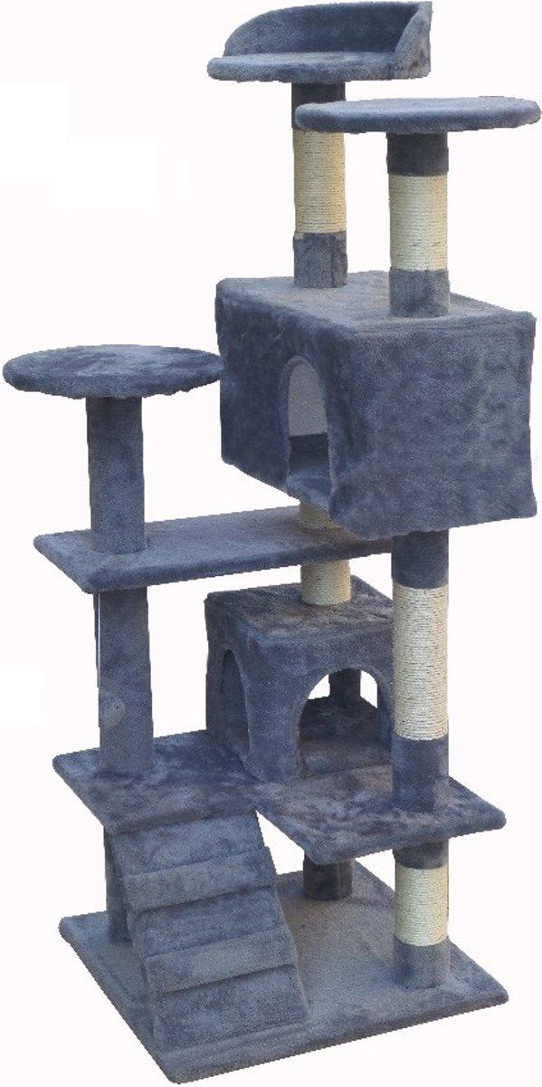krabpaal kattenkrabpaal 132cm grijs, nieuw, 401771