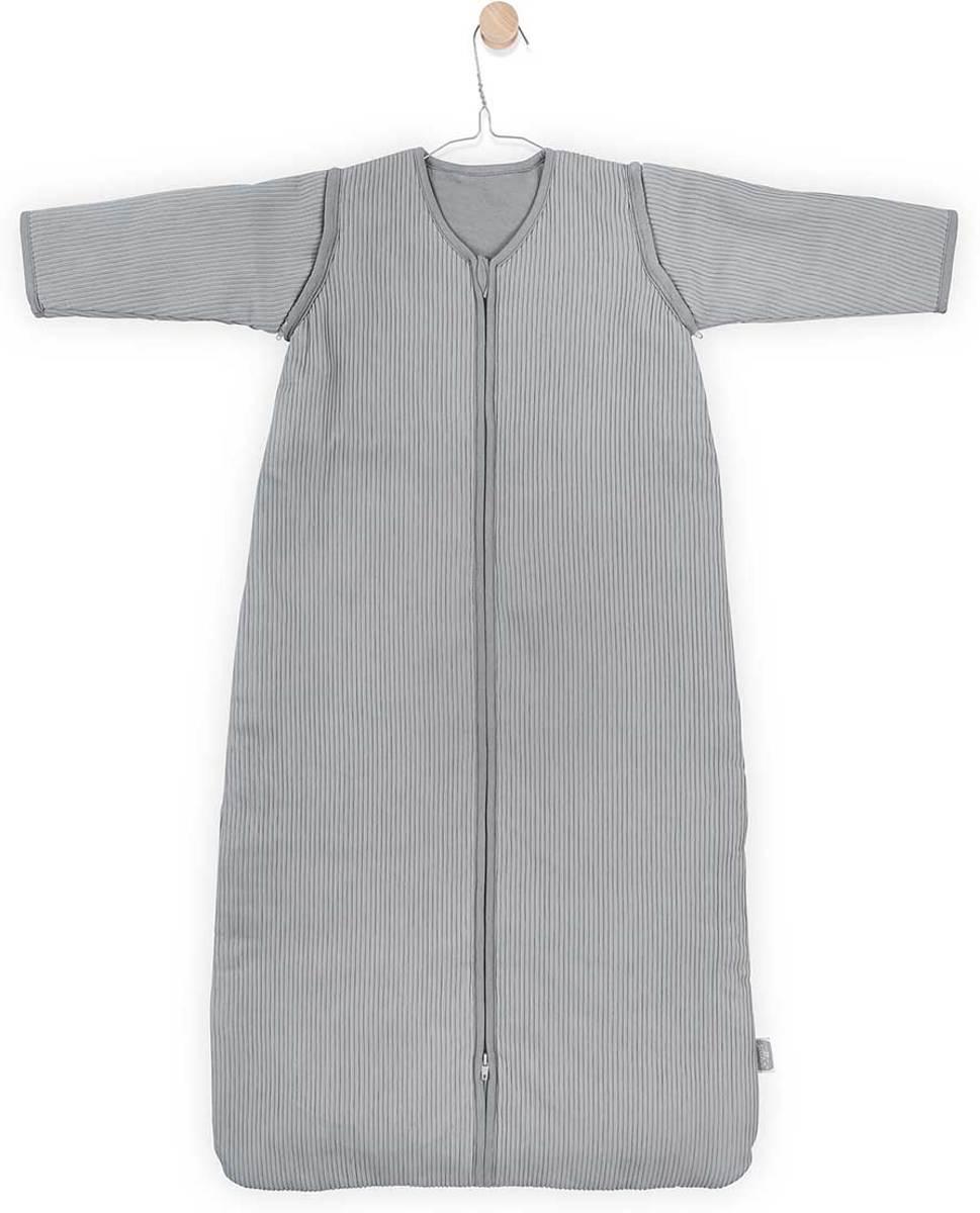 Jollein Rib Padded Babyslaapzak met afritsbare mouw - 90cm - stone grey