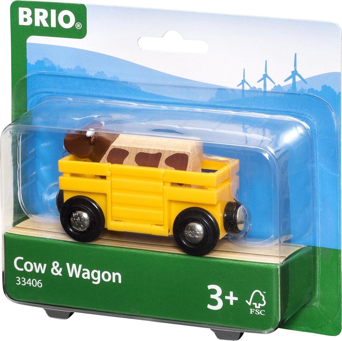BRIO 33406 Veewagon met Koe
