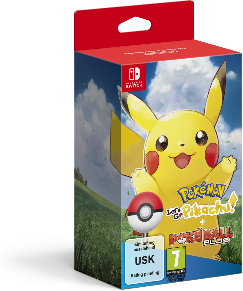 Pokémon: Let's Go, Pikachu! + Poké Ball Plus Pack Switch