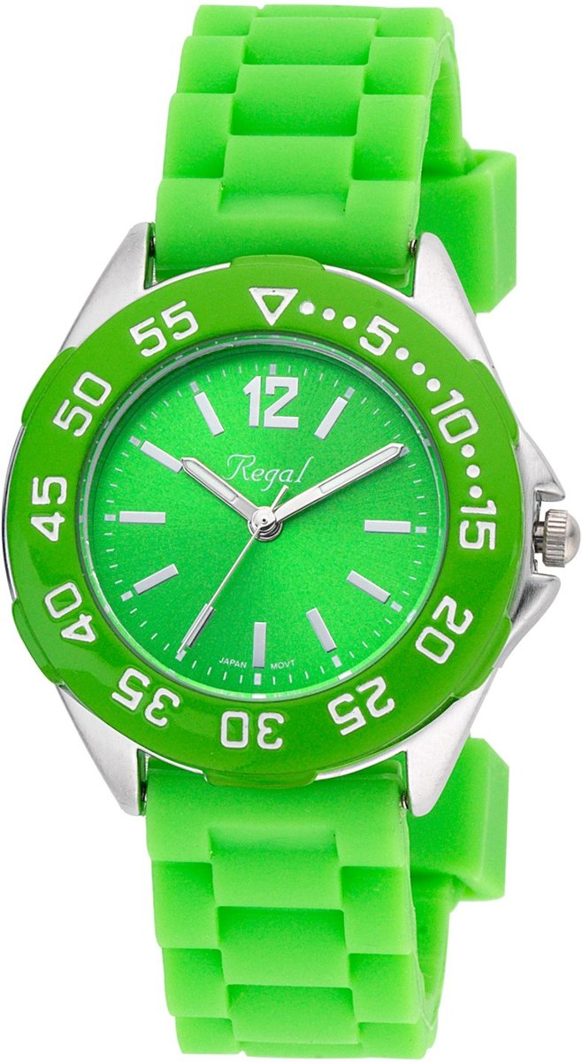 Regal - Regal jongenshorloge groene band R37800-434 kopen
