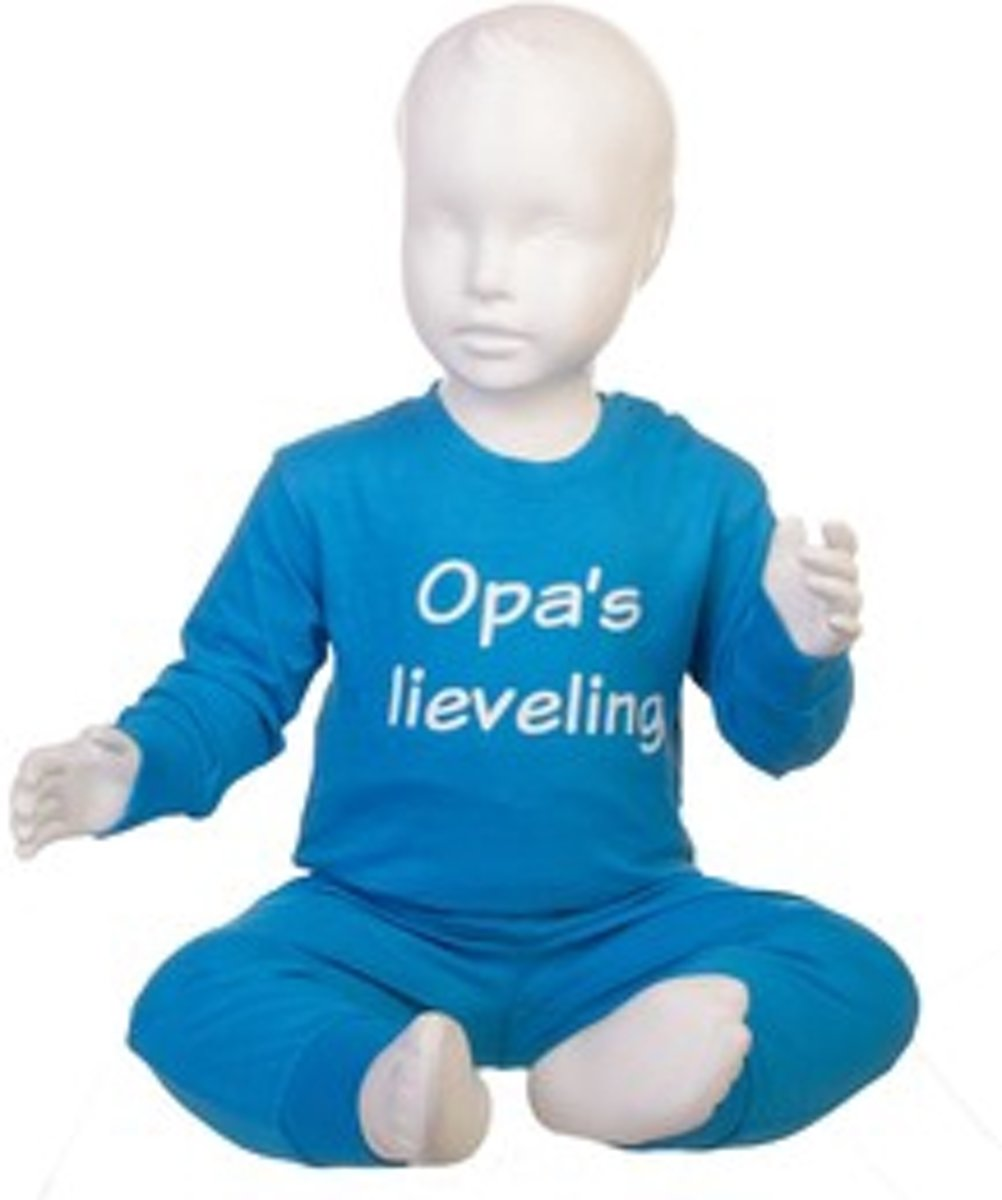 Fun2Wear Pyjama Opa's Lieveling blauw maat 116 kopen