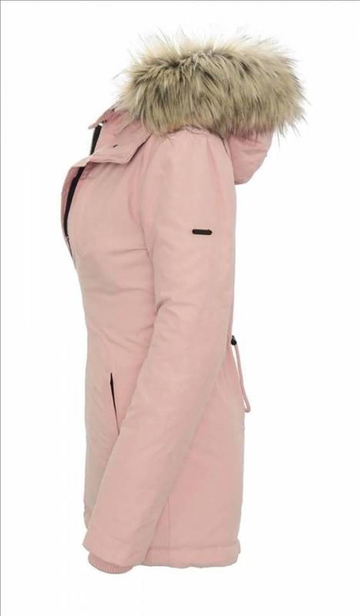 c53aabaffe24f6 bol.com | Navahoo dames winterjas met 2-voudige sluiting roze