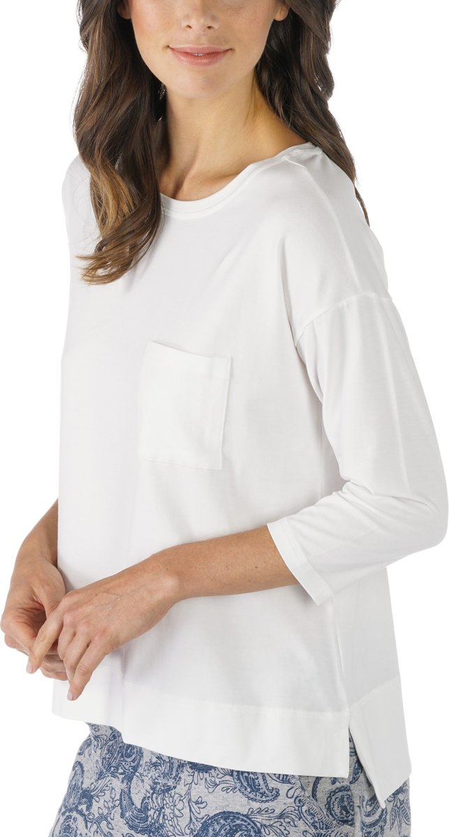 Mey Dames Night2Day Demi Shirt ¾ Mouw 16806 - Blauw - L kopen