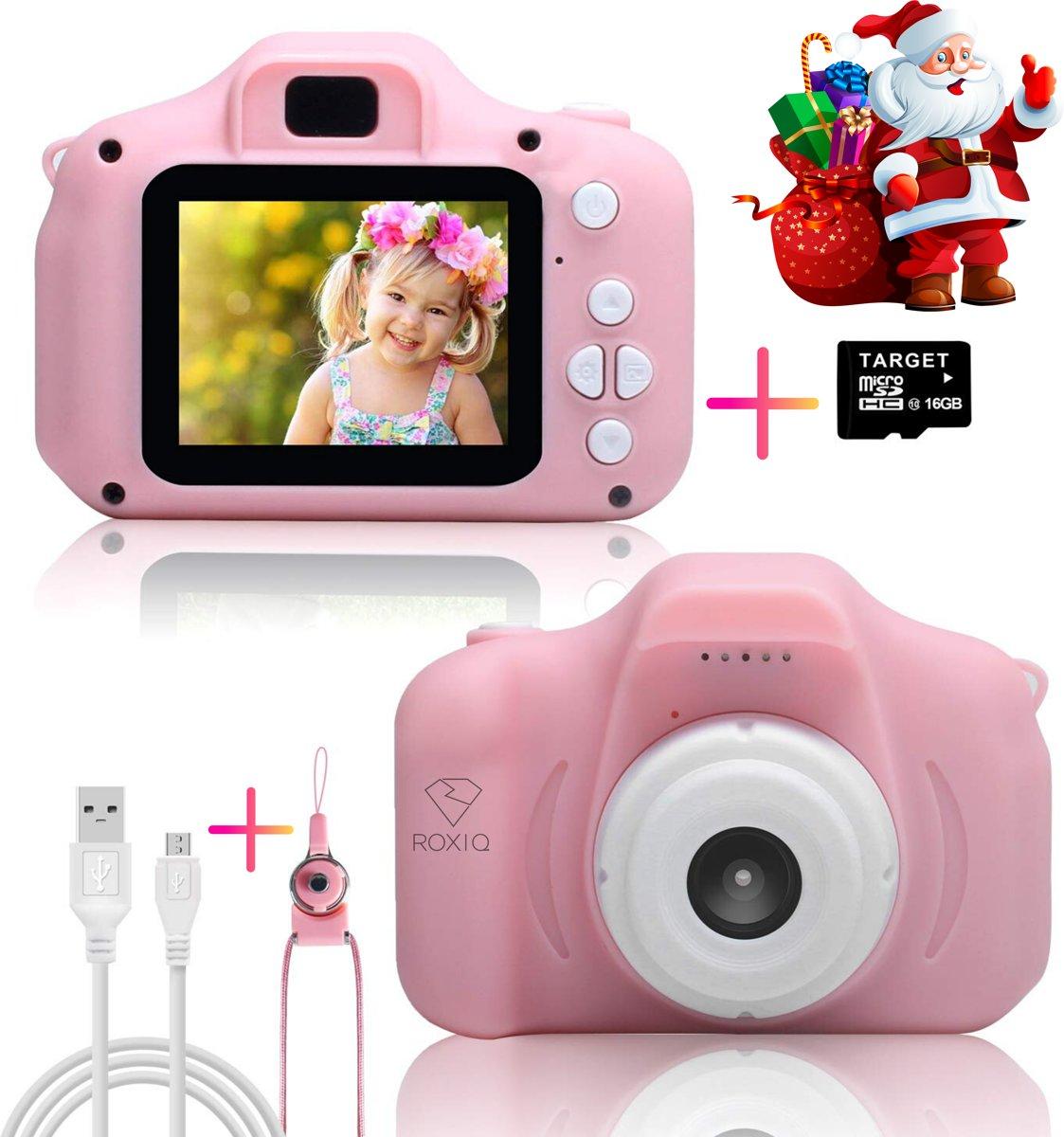 Roxiq Kinder Camera KC1 Roze � Digitale camera � 1080P HD � Fototoestel voor kinderen