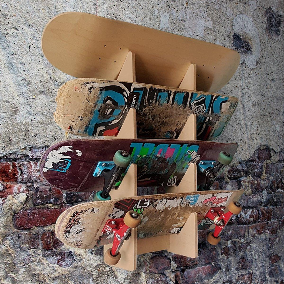 Geliefde bol.com | Board Racks - wandrek voor 4 skateboards @JE32