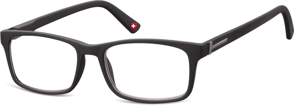Montana Leesbril Mr73 Unisex Rechthoekig Zwart Sterkte +2.00 kopen