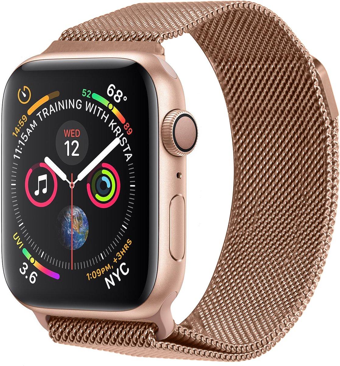 Rosé Goud Milanese design bandje voor de Apple Watch 44 mm / 42 mm kopen