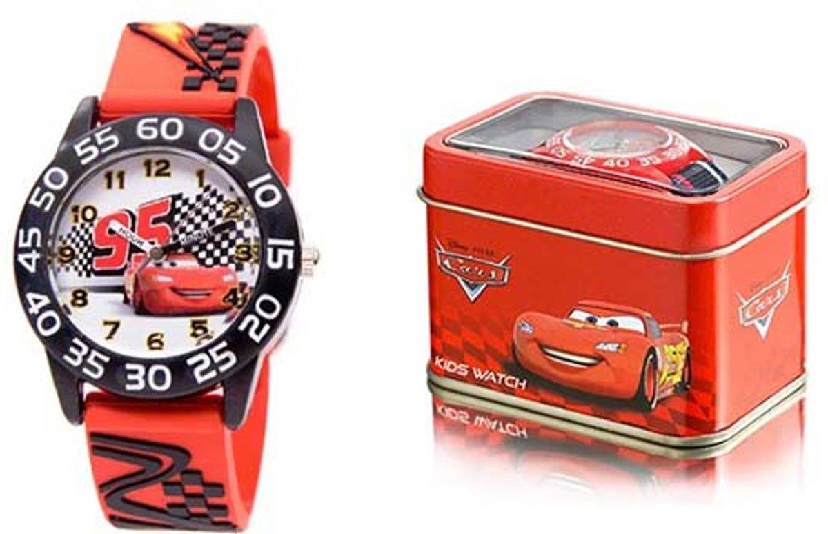 Disney Horloge - Cars - Wit/White - Geschenkdoos kopen