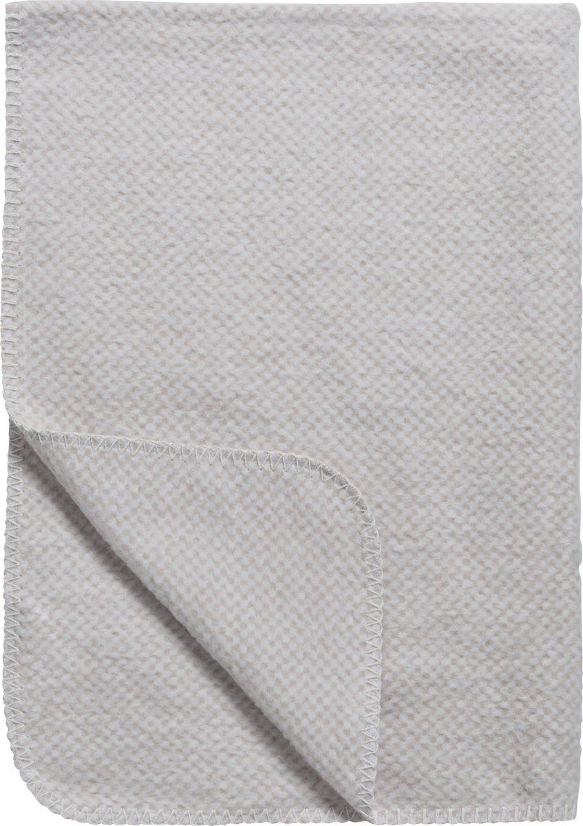 Meyco Stripy Pepita wiegdeken - 75 x 100 cm - zand