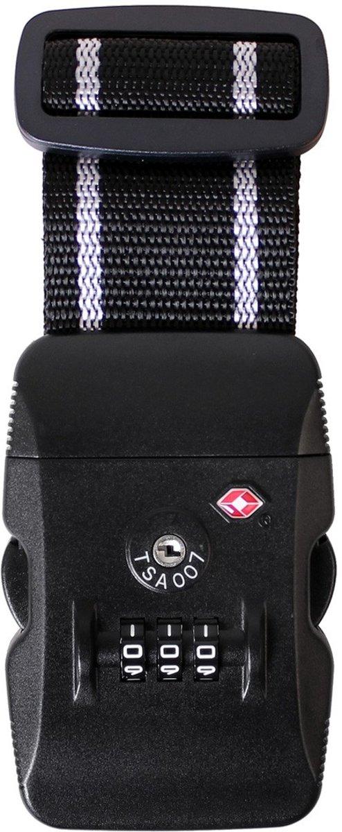 Karry Kofferriem Zwart Wit TSA-slot 105-193cm kopen