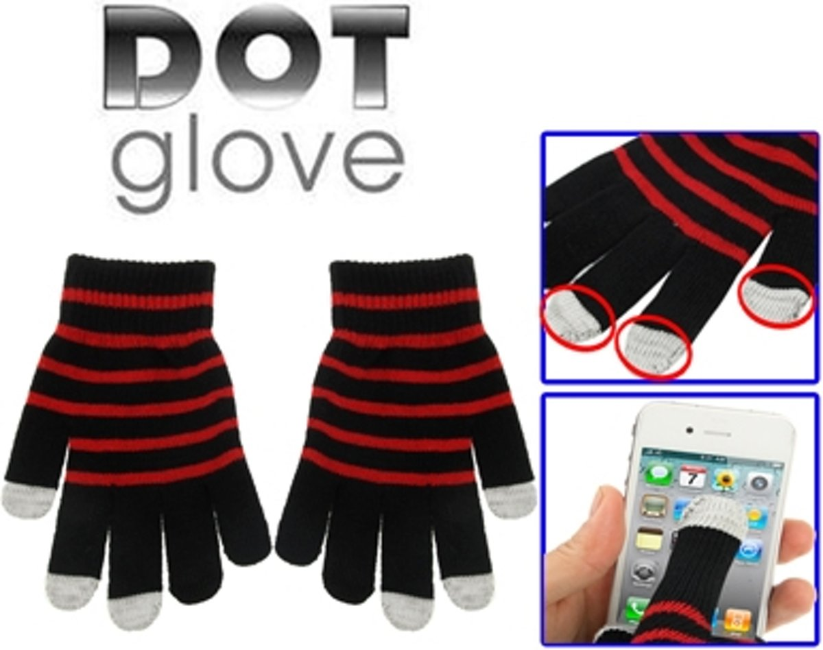 Dot Gloves of Touch Screen  For iPhone  Galaxy  Huawei  Xiaomi  HTC  Sony  LG and other Touch Screen Devices(Red) kopen