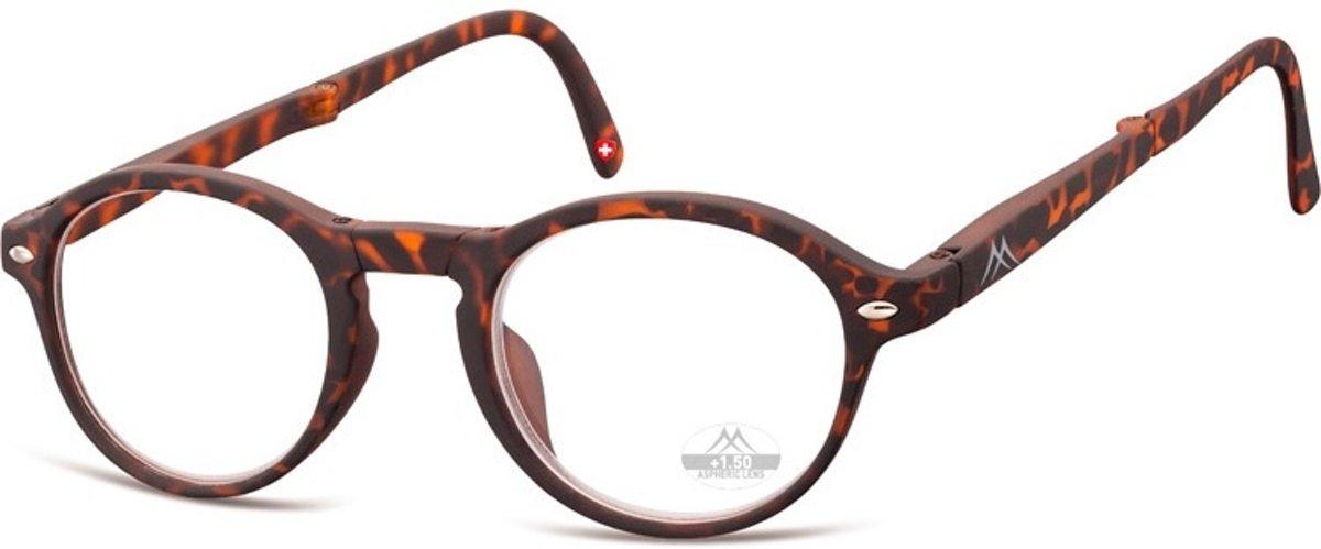 Montana Opvouwbare Leesbril Bruin Sterkte +3,50 (box66a) kopen