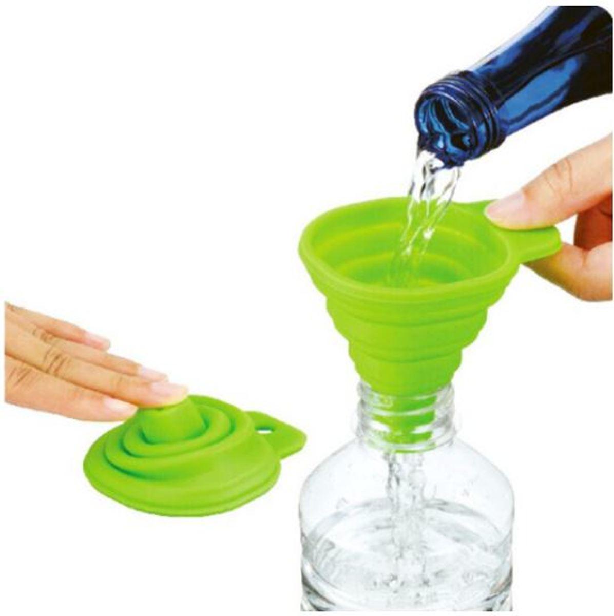 Opvouwbare Siliconen Trechter - Inklapbaar handig keuken hulp tool - groen kopen