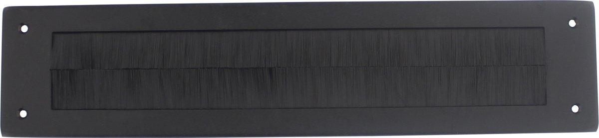 Intersteel Tochtwering rechthoek rvs/mat zwart