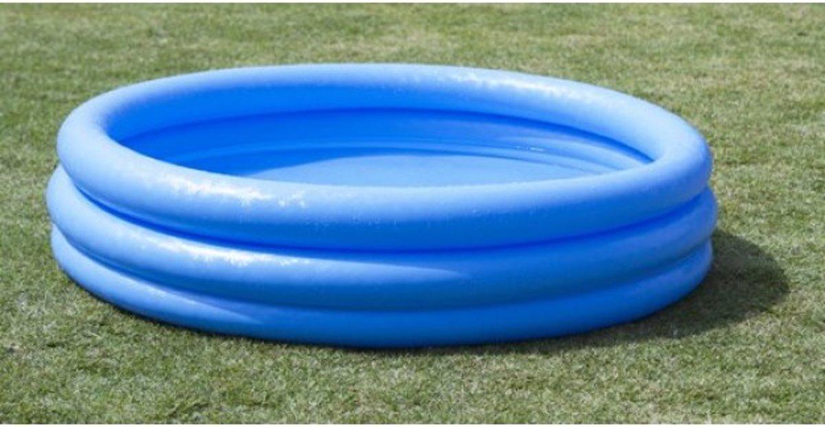 Intex Opblaasbaar Zwembad - blauw - 114 x 25 centimeter