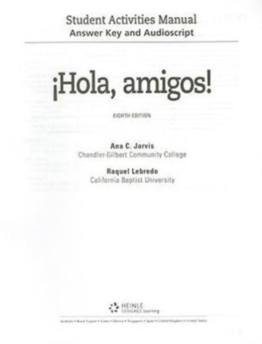 bol.com   Answer Key and Audio Script for Jarvis/Lebredo/Mena-Ayllón's  ¡Hola, amigos!, 8th  .