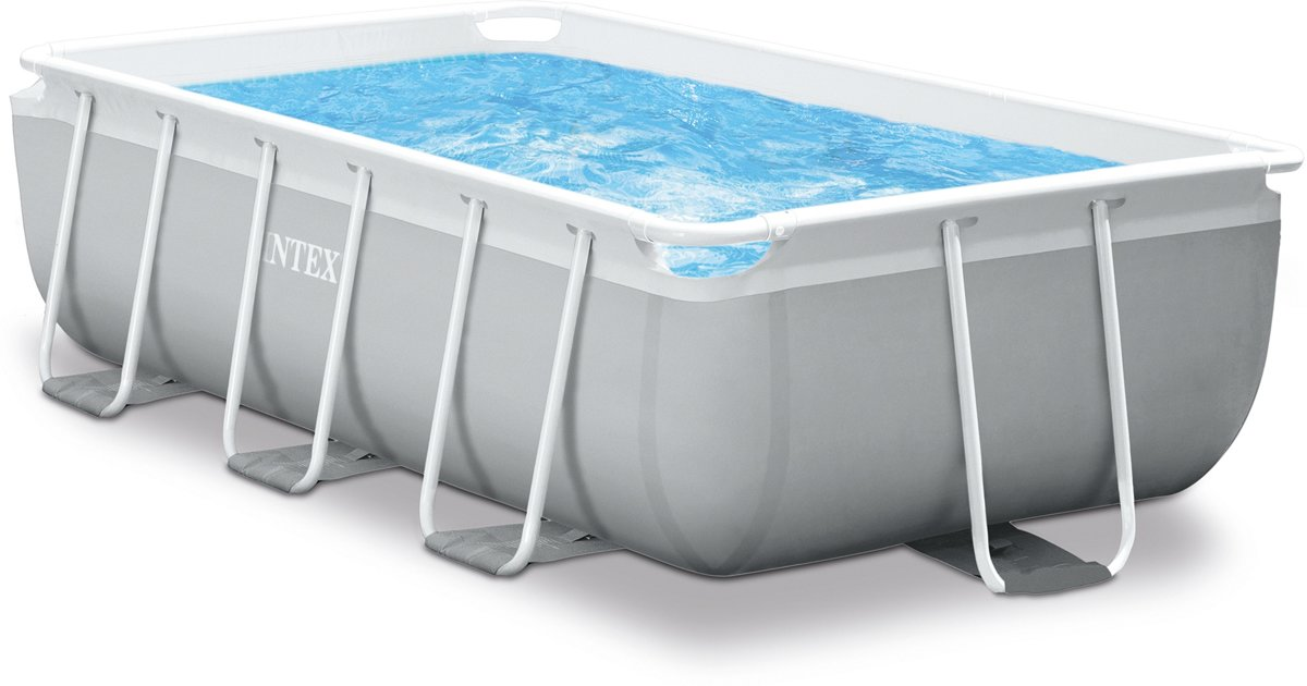 Intex Opzetzwembad Met Pomp En Trap Prism Frame 300 X 175 X 80 Cm Grijs