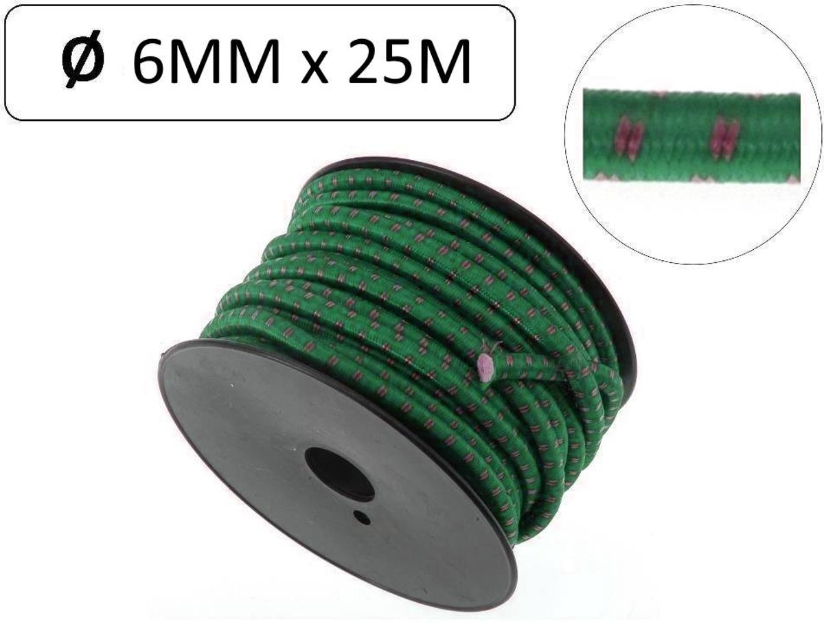 Elastiek Op Rol 25 meter / 6 mm
