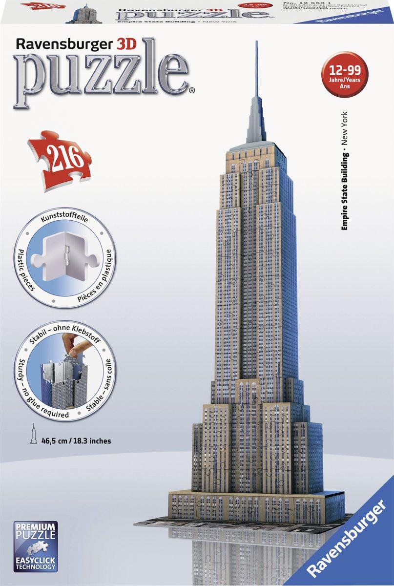 3D Puzzel - Empire State Building (216 stukjes)
