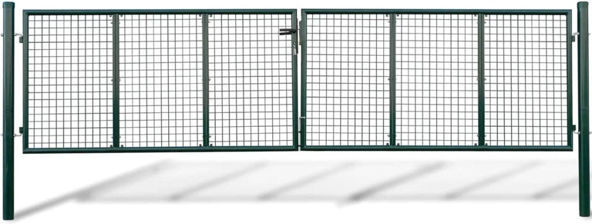 vidaXL Tuinhek (gevlochten / 415 x 125 cm 400 75 cm) kopen