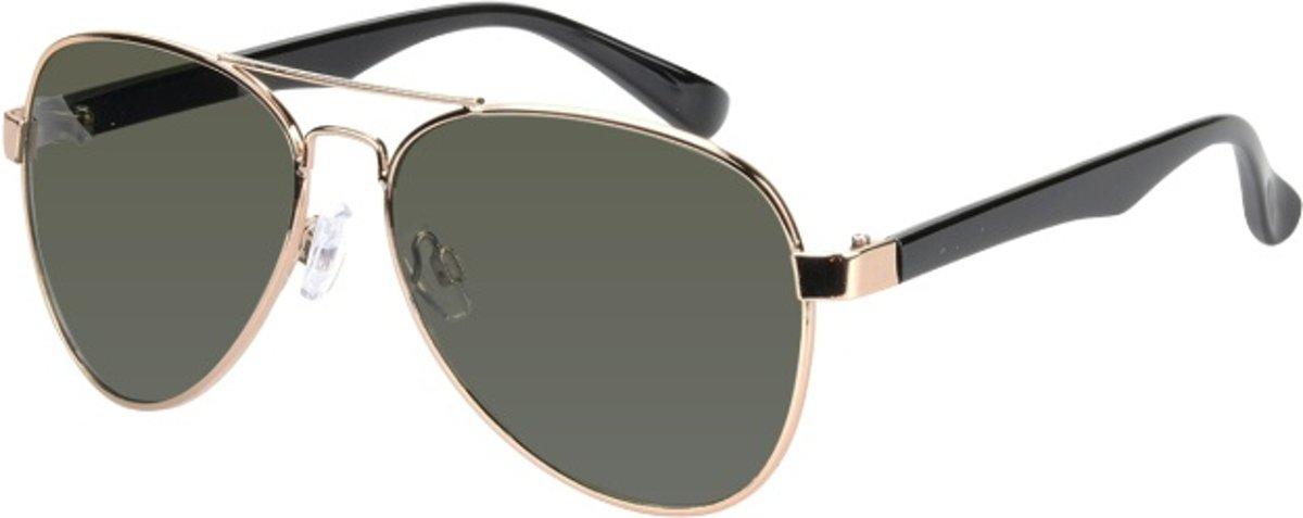zonnebril unisex goud met groene lens (17-906 P) kopen