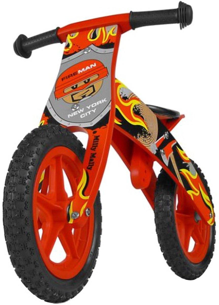 Milly Mally houten loopfiets Flip met omkeerbaar hoofdframe (Brandweer)