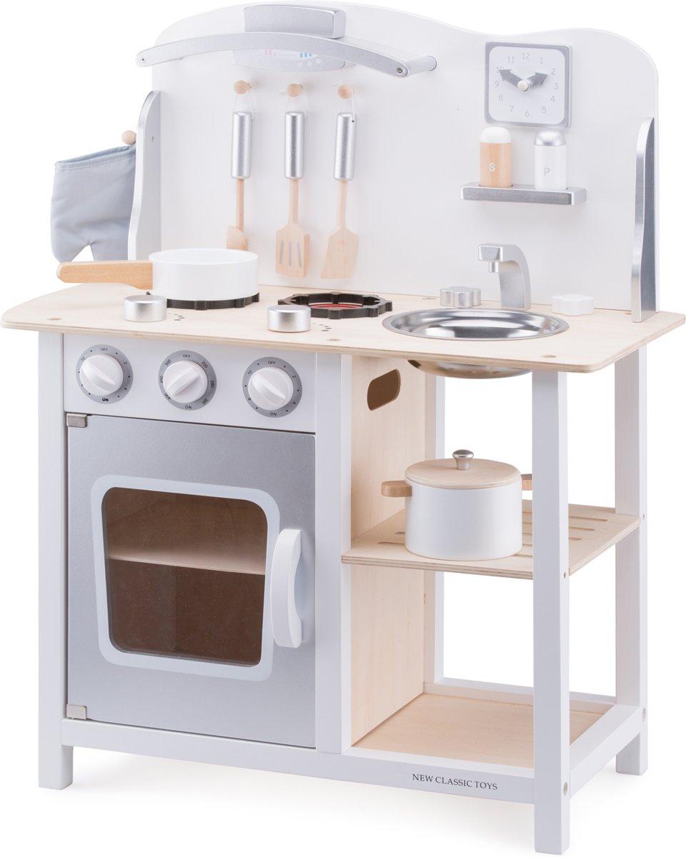 Fornuis Helemaal Hip : Bol.com new classic toys kinderkeuken bon appetit wit zilver