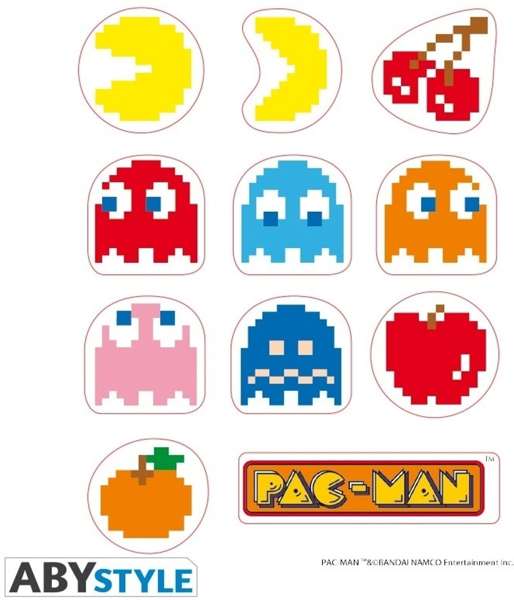 PAC-MAN - Stickers - 16x11cm/ 2 sheets - Maze X5