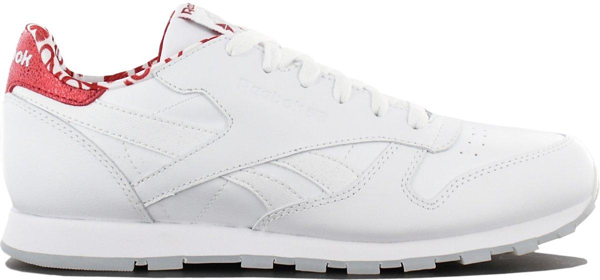 Reebok Classic Leather CL Hearts CM9191 Dames Sneaker Sportschoenen Schoenen Wit Maat EU 35