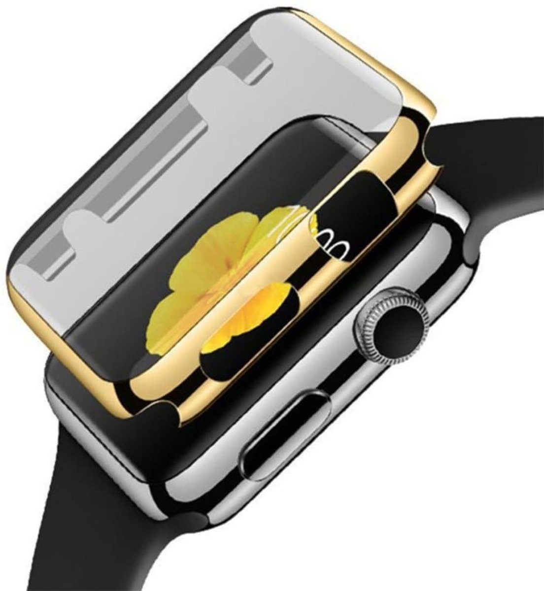 38mm Case Cover Screen Protector goud 4H Protected Knocks Watch Cases voor Apple watch 3 Watchbands-shop.nl kopen