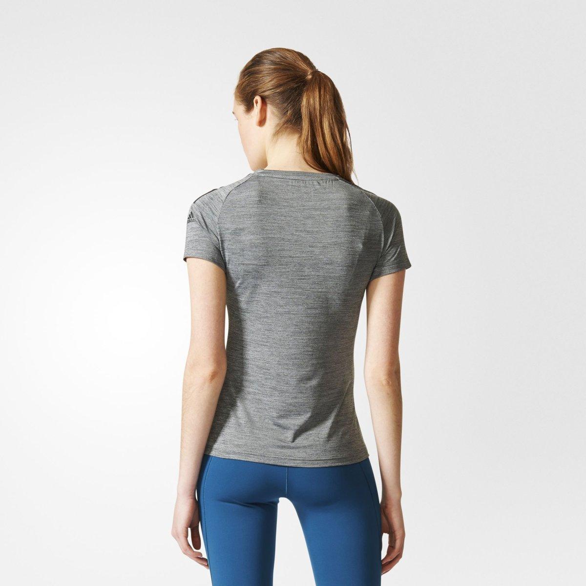 adidas Freelift Tee Sportshirt Dames Grijs maat XL