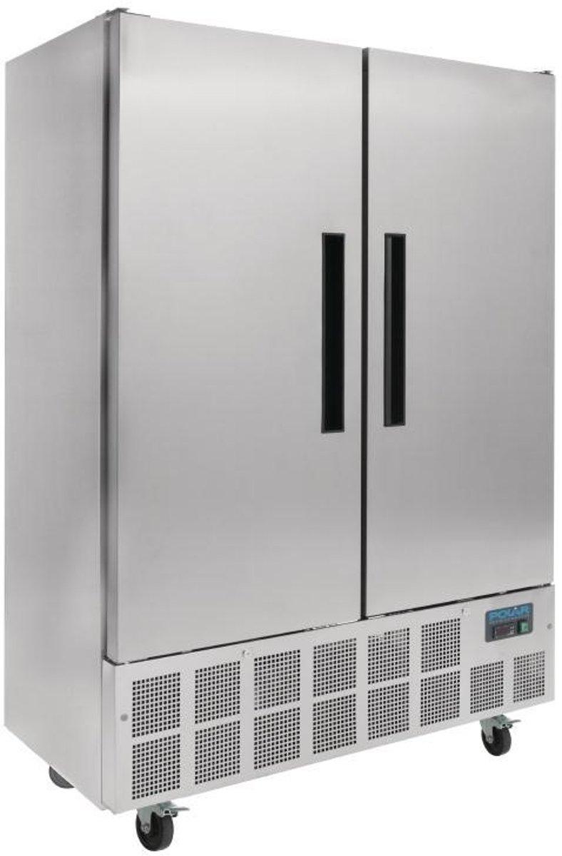 Polar 2-deurs slimline RVS koeling 960ltr kopen