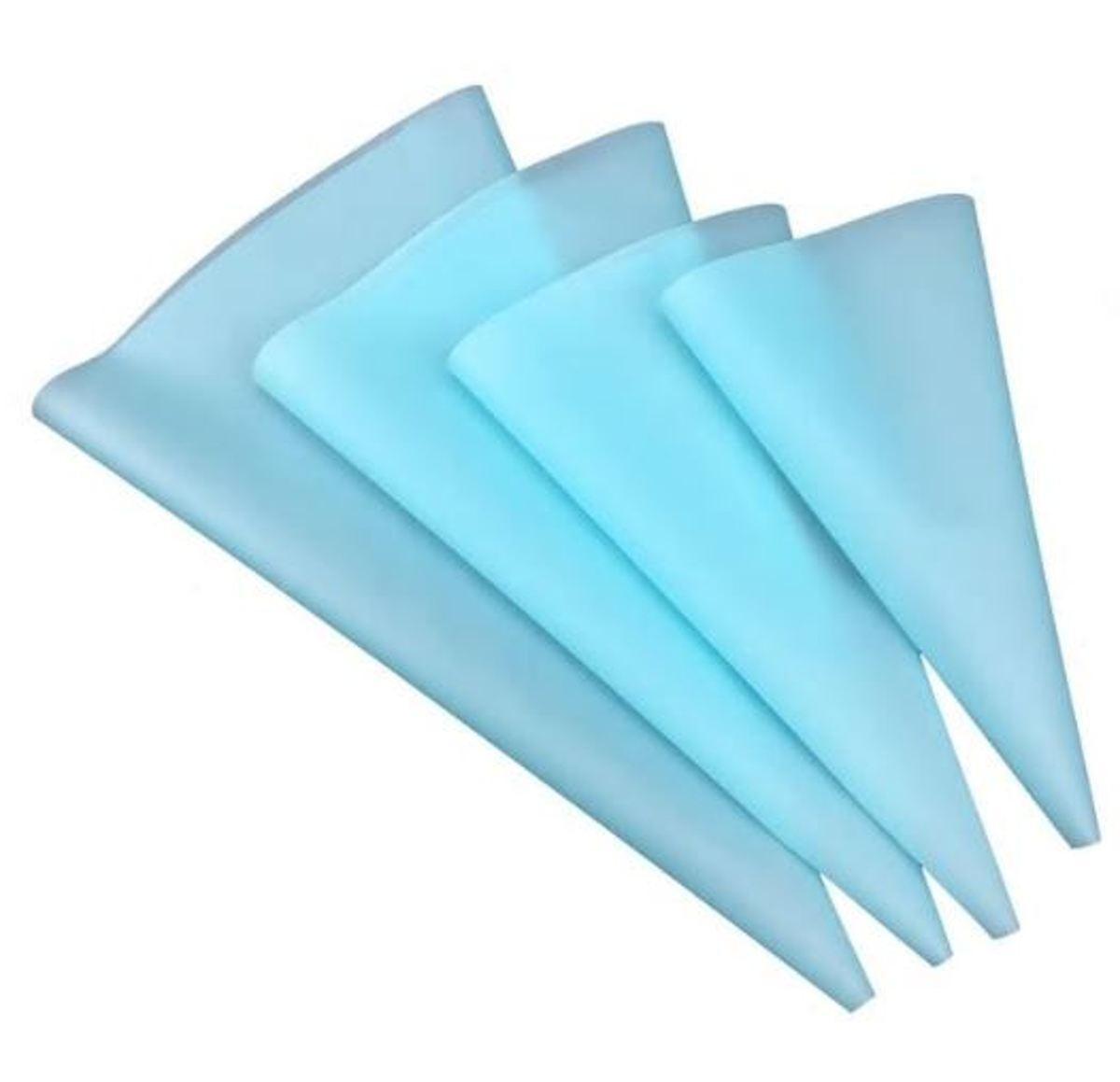 The Bakeshop | Premium siliconen spuitzakken blauw | 4 stuks | 4 formaten kopen