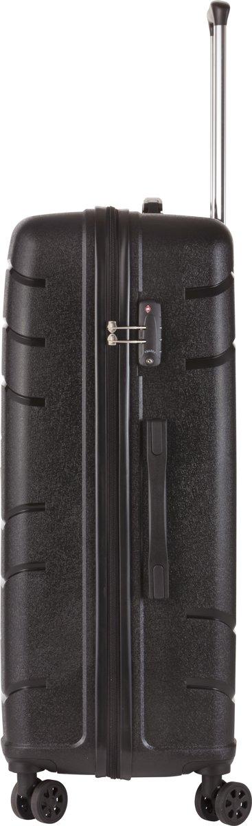 a7289d10f7b bol.com | TravelZ - Big Bars - Grote Reiskoffer 78 cm - Trolley koffer met  TSA-slot - Zwart
