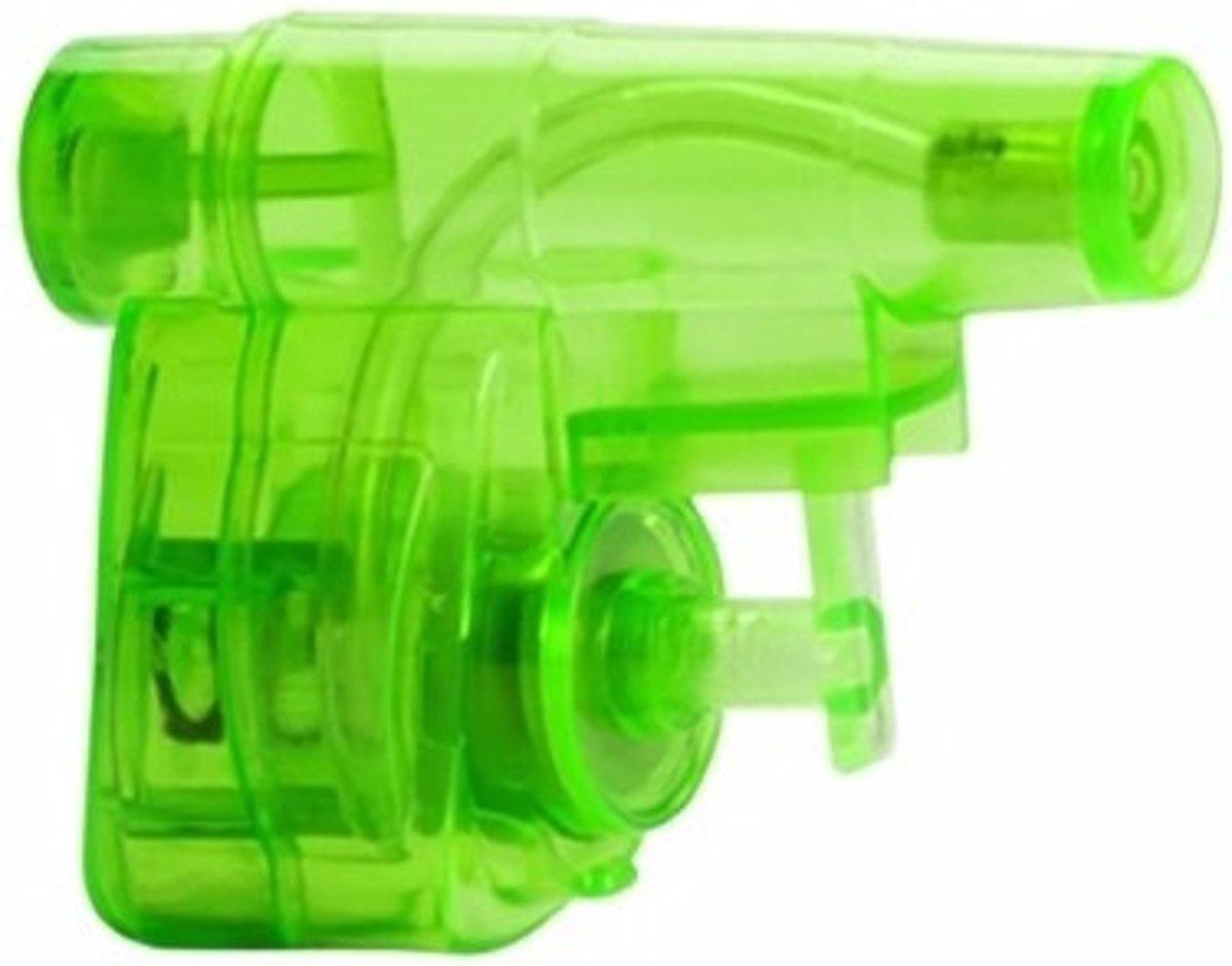 Mini groen waterpistool 5 cm